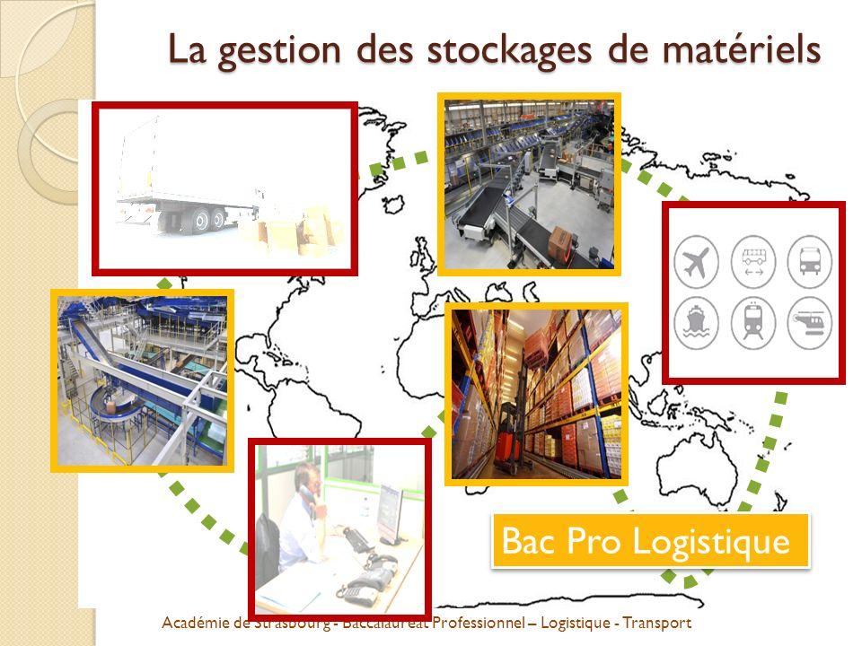 La gestion des stockages de matériels