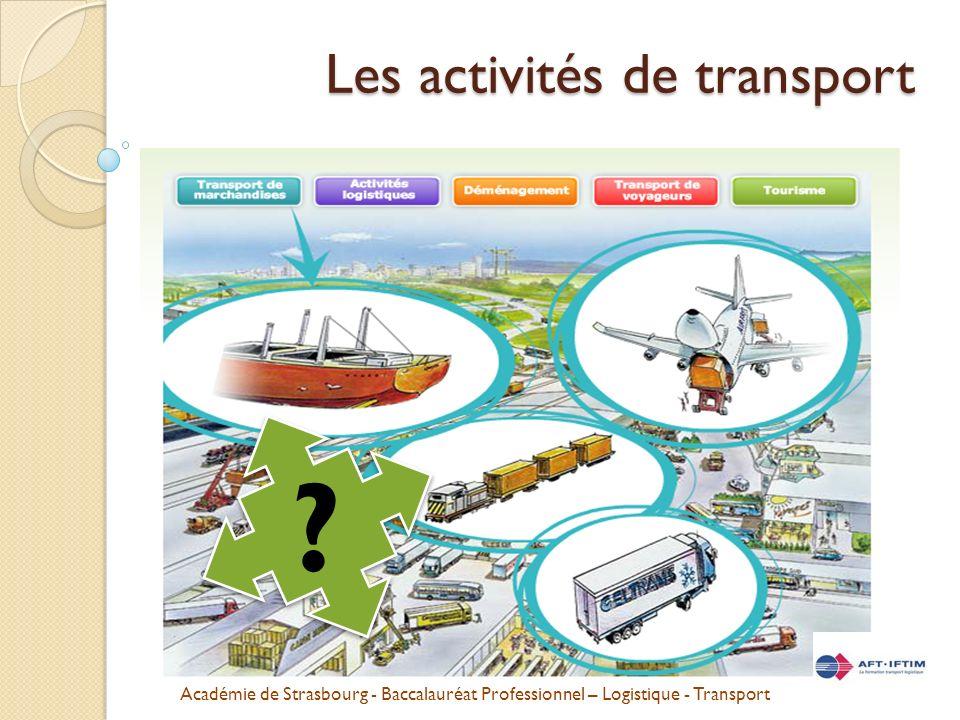 Les activités de transport