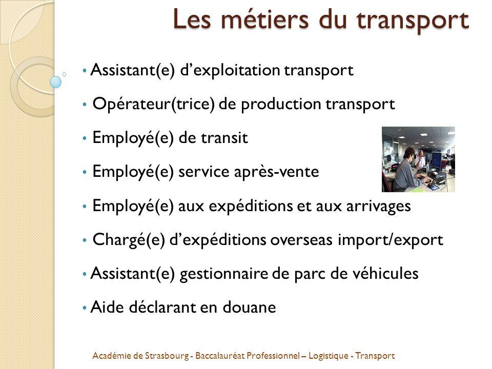 Les métiers du transport