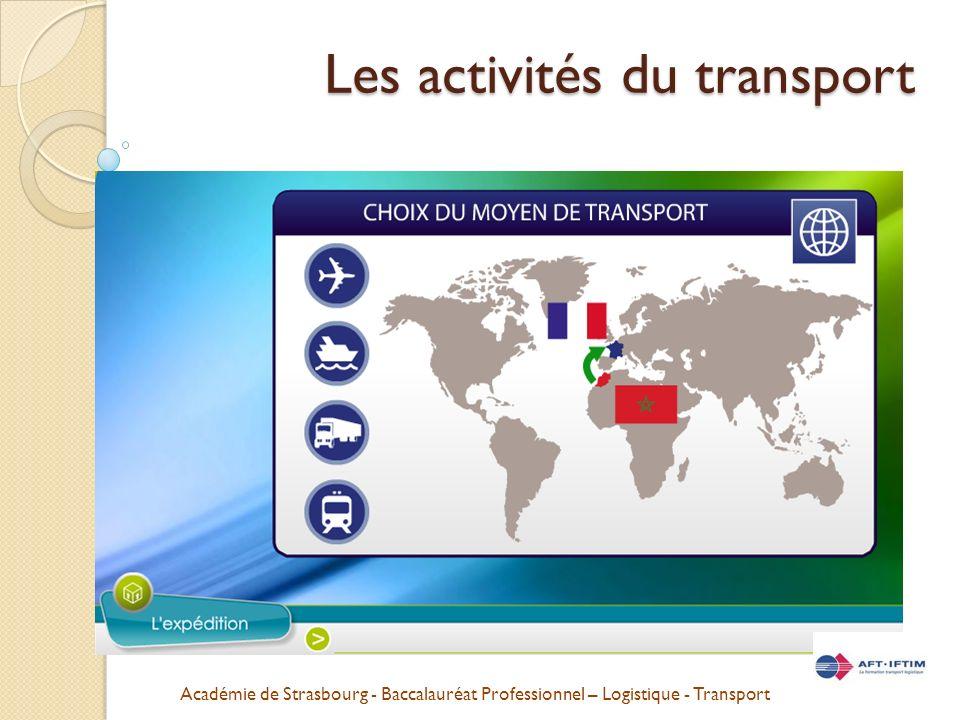 Les activités du transport