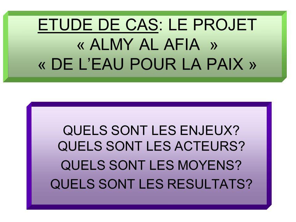 ETUDE DE CAS: LE PROJET « ALMY AL AFIA » « DE L'EAU POUR LA PAIX »