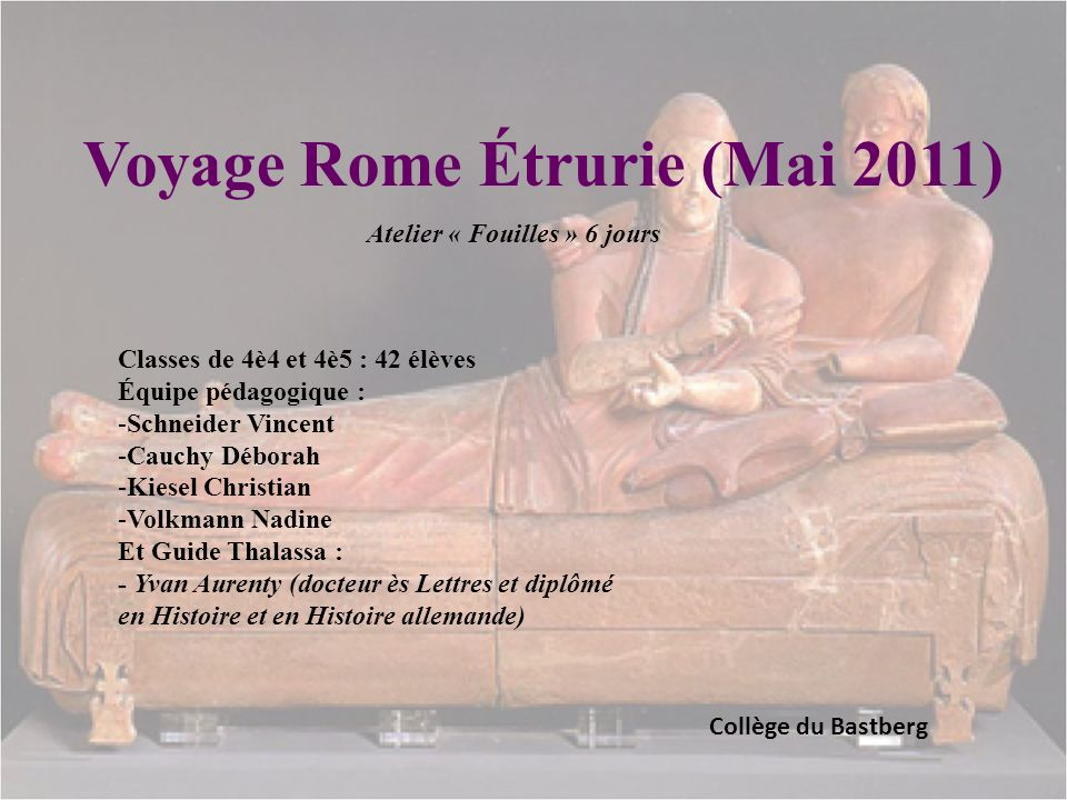 Voyage Rome Étrurie (Mai 2011)