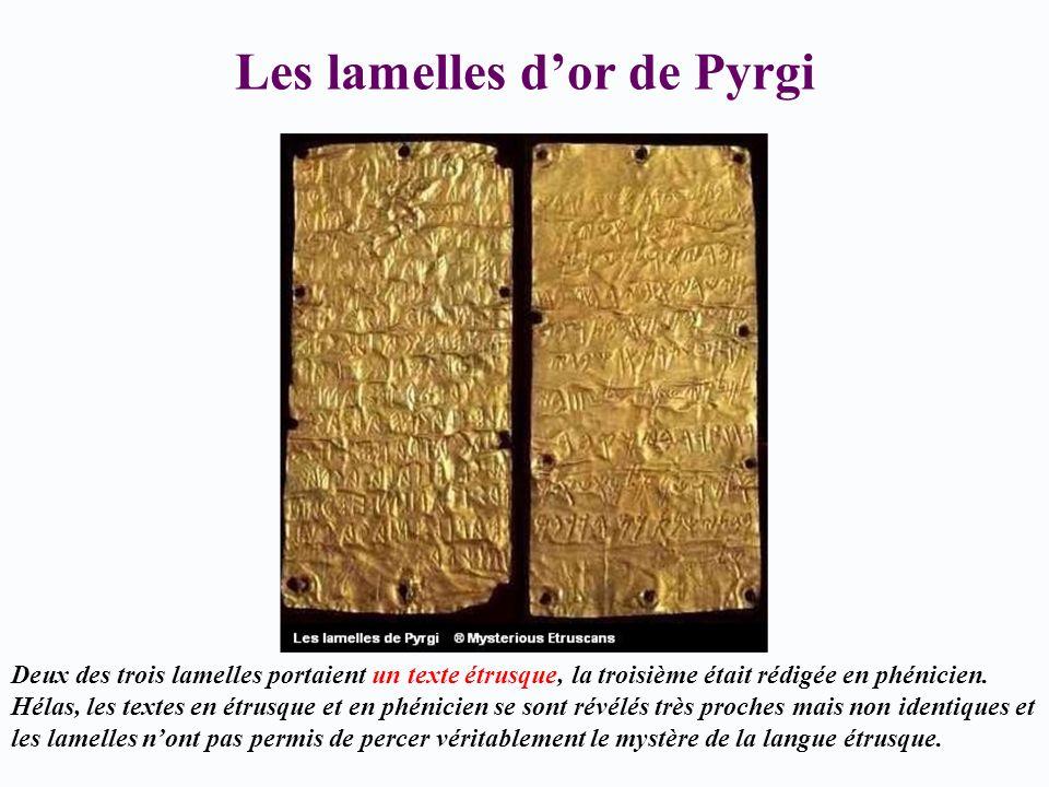 Les lamelles d'or de Pyrgi