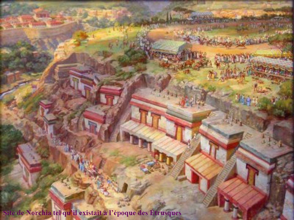 Site de Norchia tel qu'il existait à l'époque des Étrusques