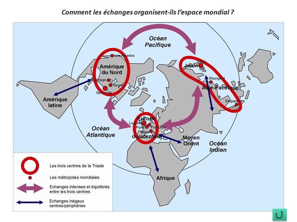 Comment les échanges organisent-ils l'espace mondial