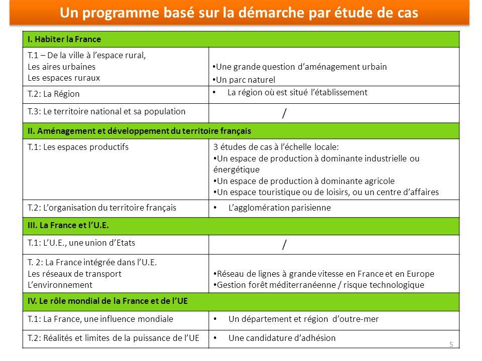 Un programme basé sur la démarche par étude de cas