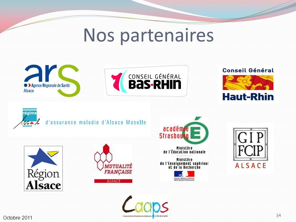 Nos partenaires Octobre 2011