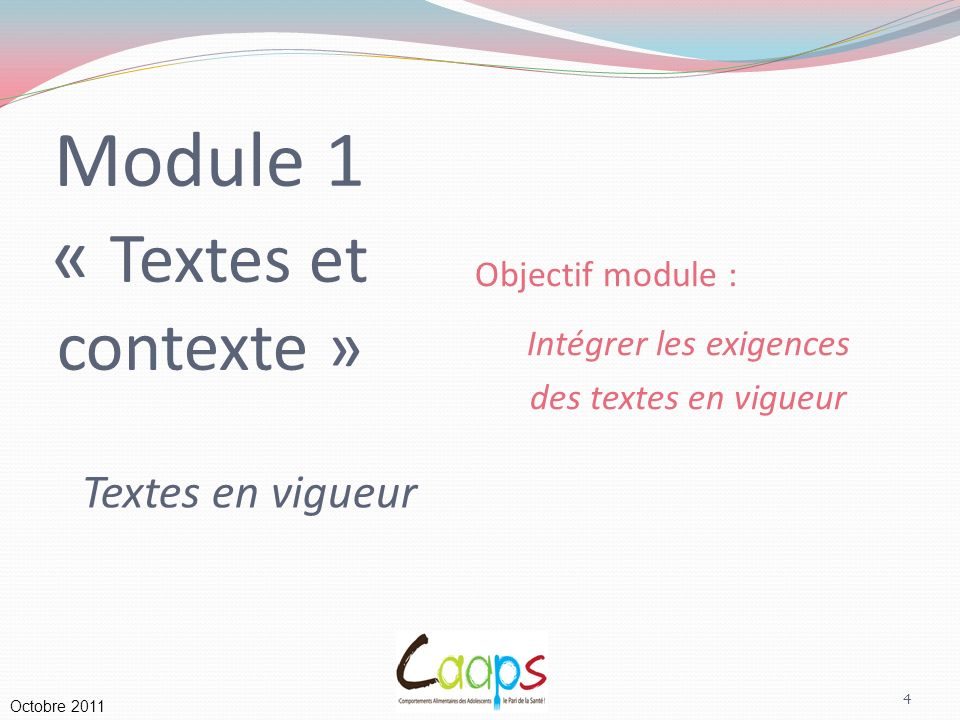 Module 1 « Textes et contexte »