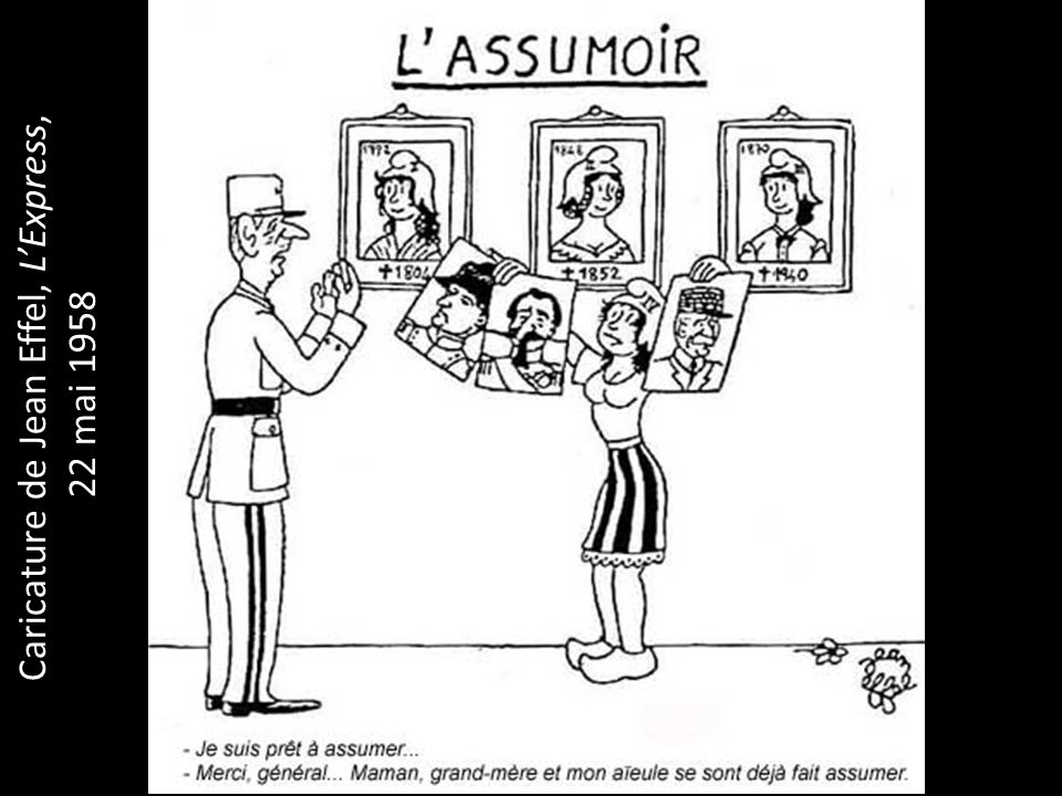 Caricature de Jean Effel, L'Express,