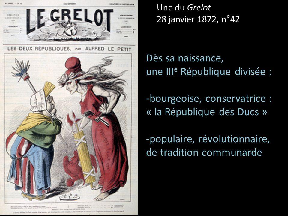 une IIIe République divisée :