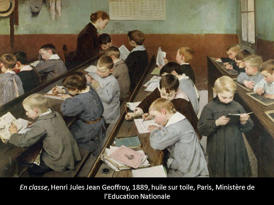 En classe, Henri Jules Jean Geoffroy, 1889, huile sur toile, Paris, Ministère de l'Education Nationale