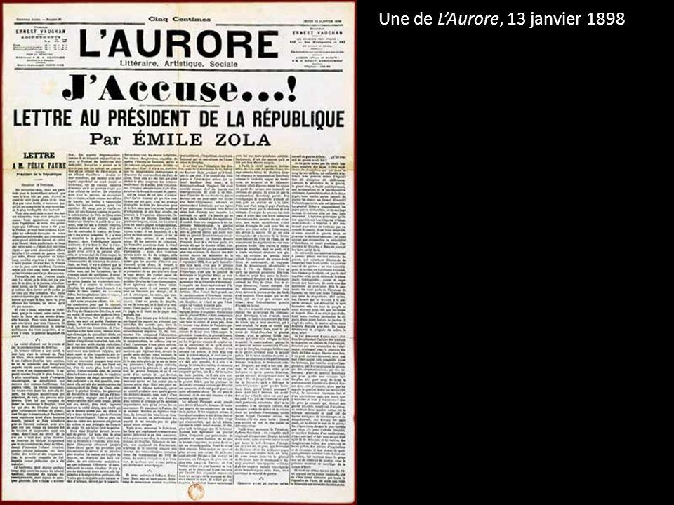 Une de L'Aurore, 13 janvier 1898