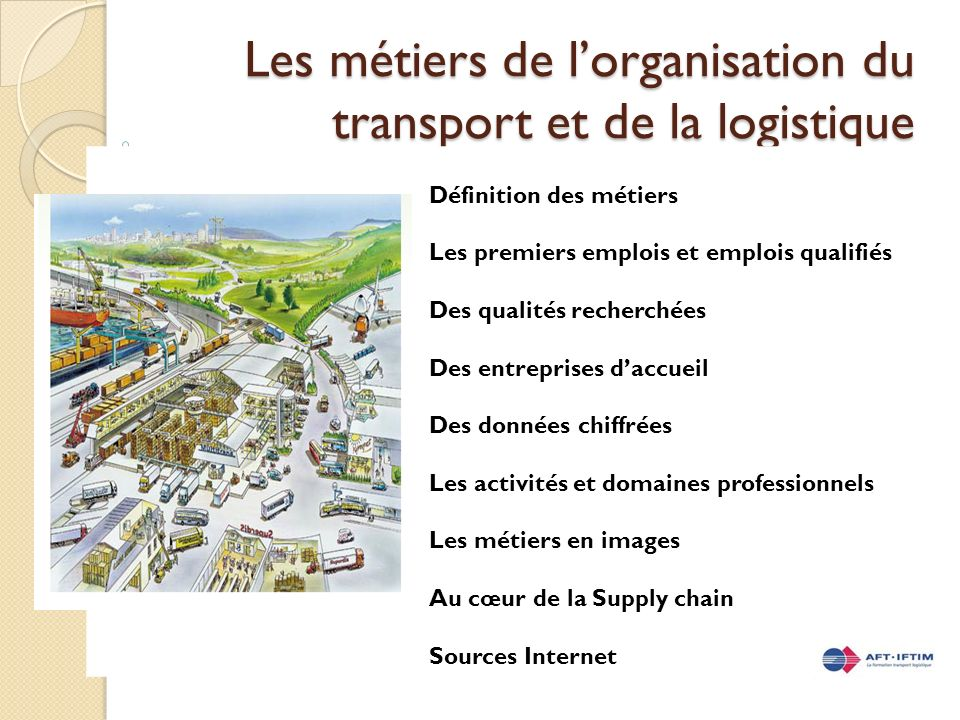 Les m tiers de l organisation du transport et de la for Architecte definition du metier