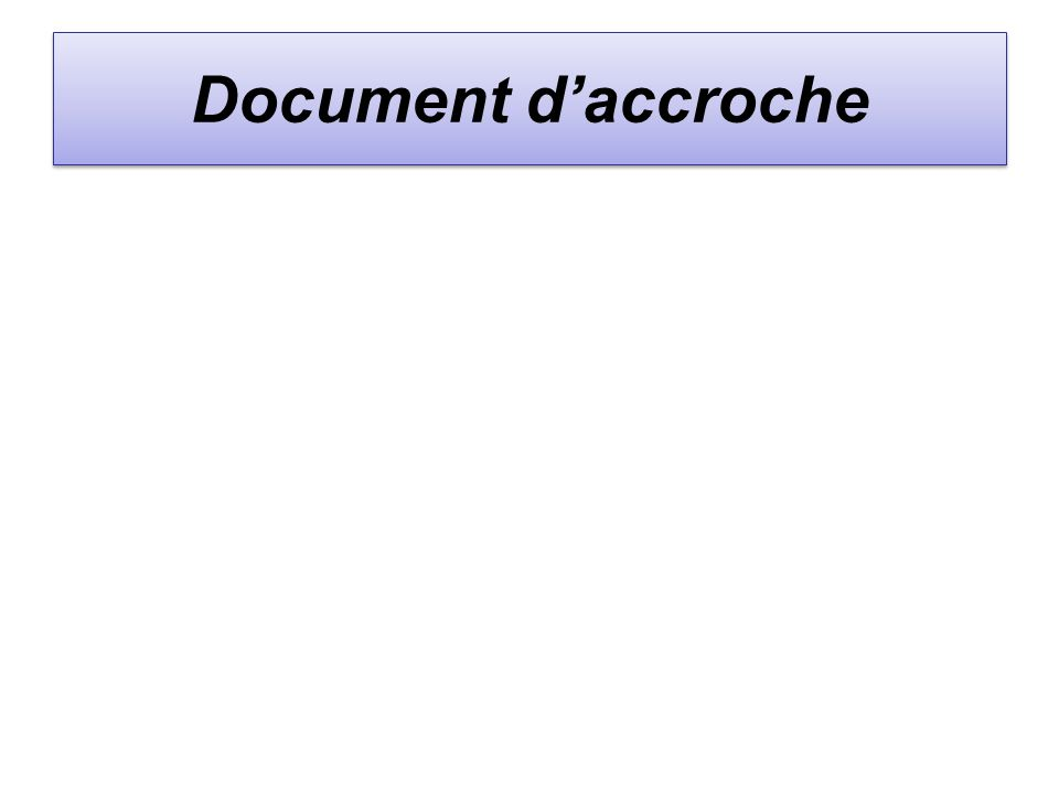 Document d'accroche