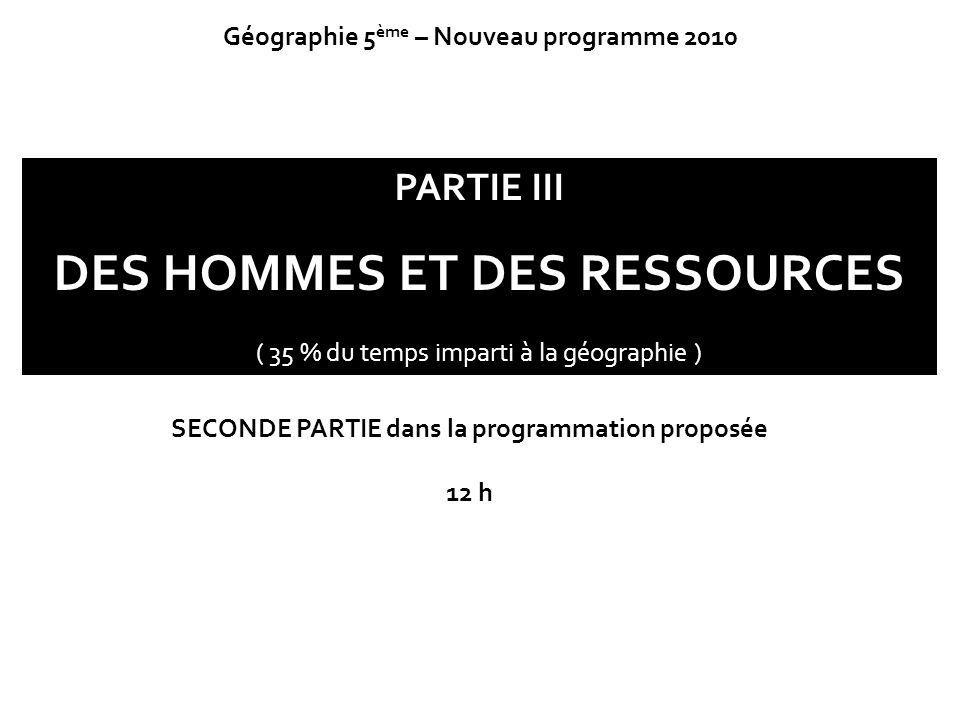 DES HOMMES ET DES RESSOURCES