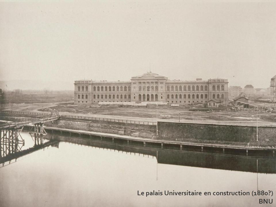 Le palais Universitaire en construction (1880 )