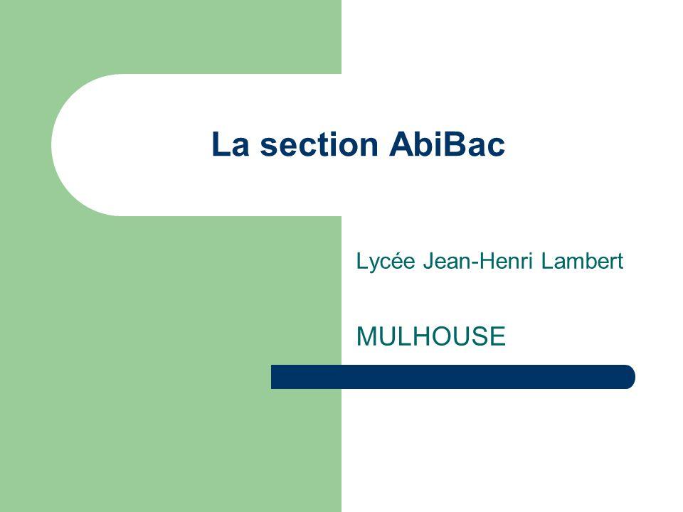 Lycée Jean-Henri Lambert MULHOUSE