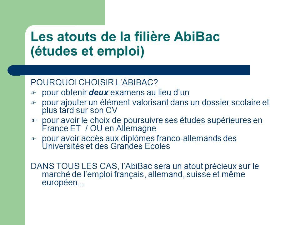 Les atouts de la filière AbiBac (études et emploi)