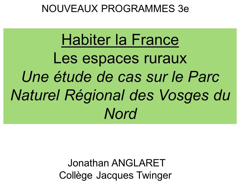 Une étude de cas sur le Parc Naturel Régional des Vosges du Nord