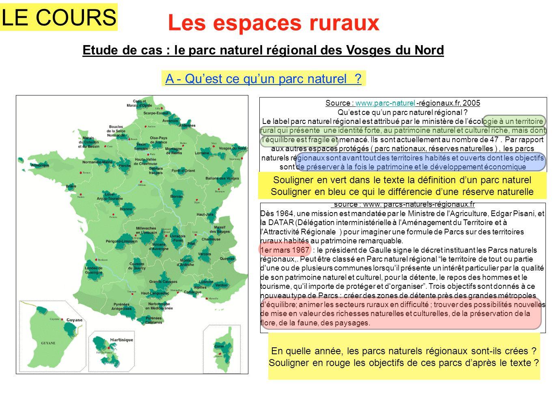 Etude de cas : le parc naturel régional des Vosges du Nord