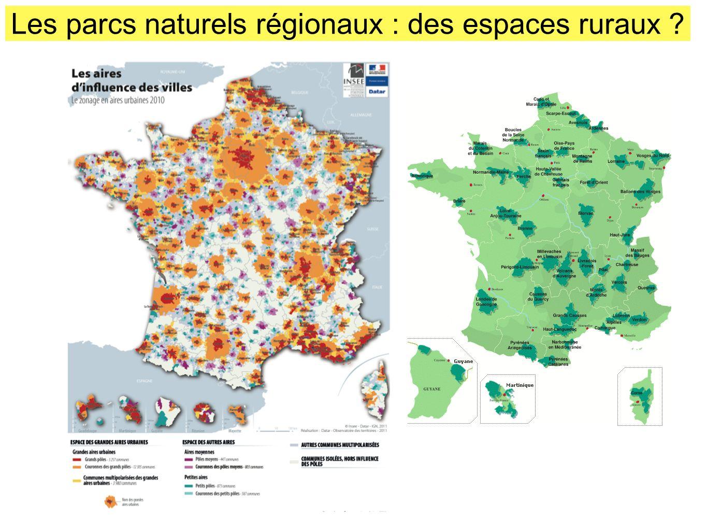 Les parcs naturels régionaux : des espaces ruraux