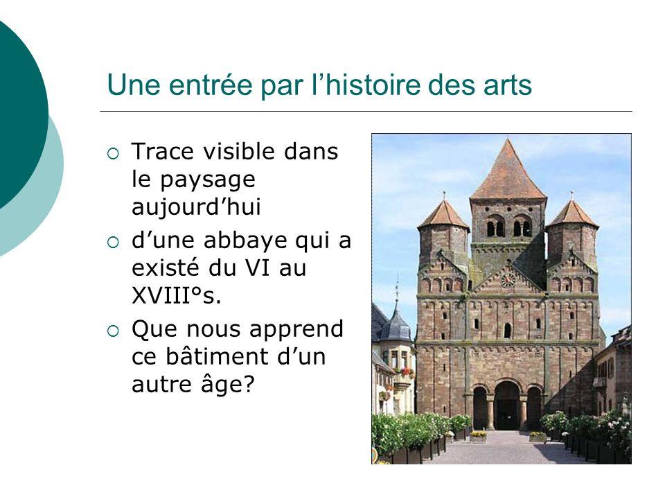 Une entrée par l'histoire des arts