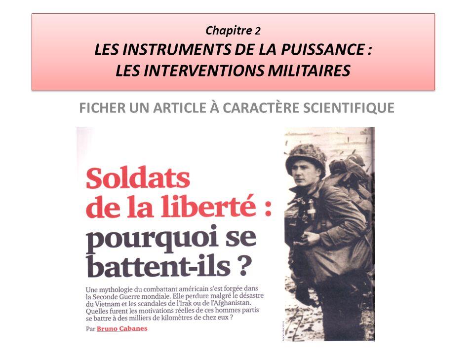 FICHER UN ARTICLE À CARACTÈRE SCIENTIFIQUE