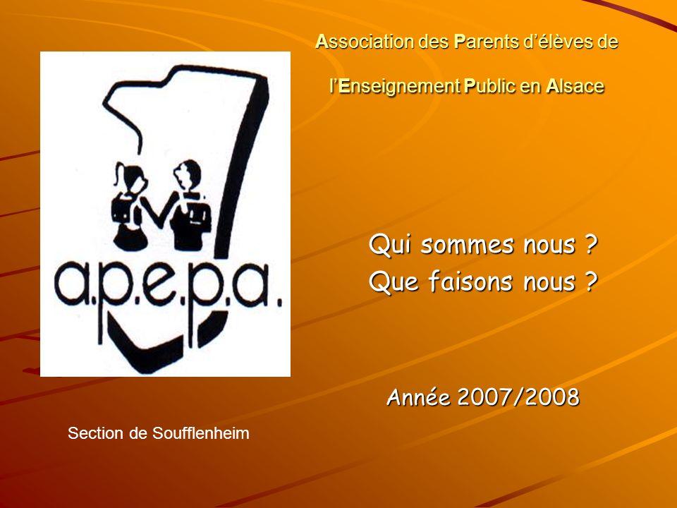 Association des Parents d'élèves de l'Enseignement Public en Alsace