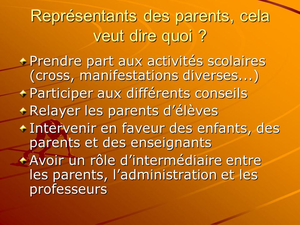 Représentants des parents, cela veut dire quoi