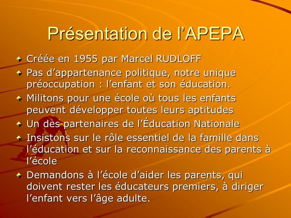 Présentation de l'APEPA