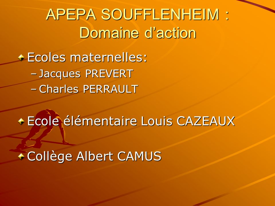 APEPA SOUFFLENHEIM : Domaine d'action
