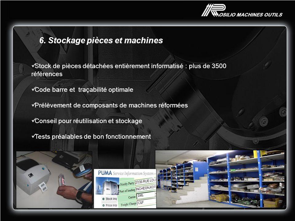 6. Stockage pièces et machines