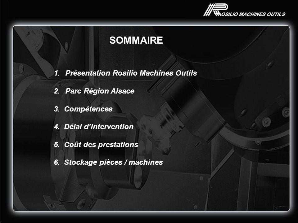 SOMMAIRE Présentation Rosilio Machines Outils Parc Région Alsace