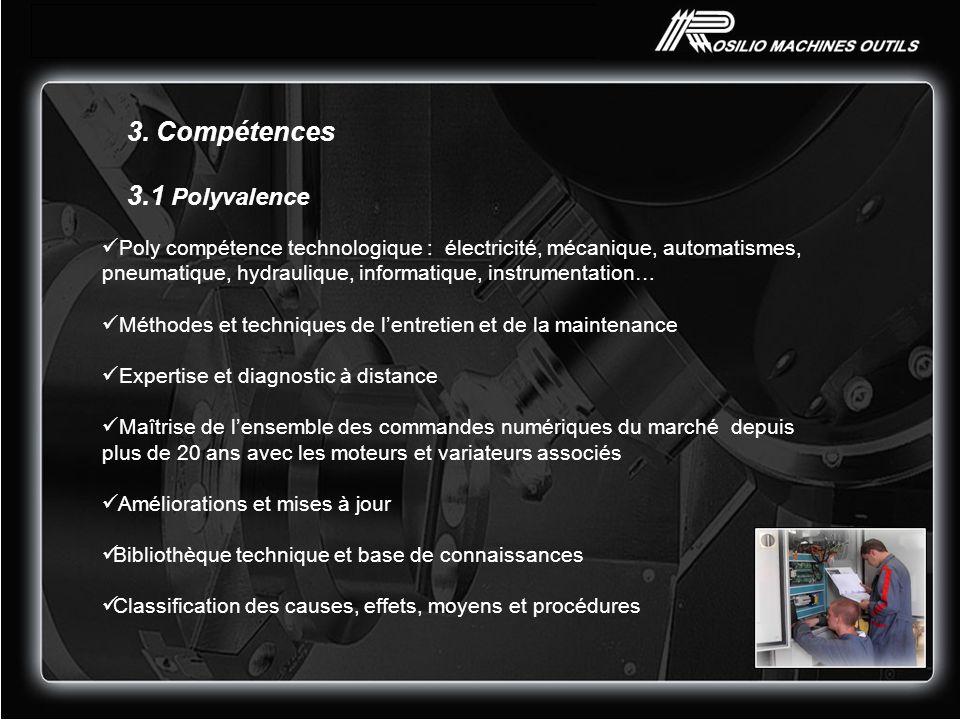 3. Compétences 3.1 Polyvalence