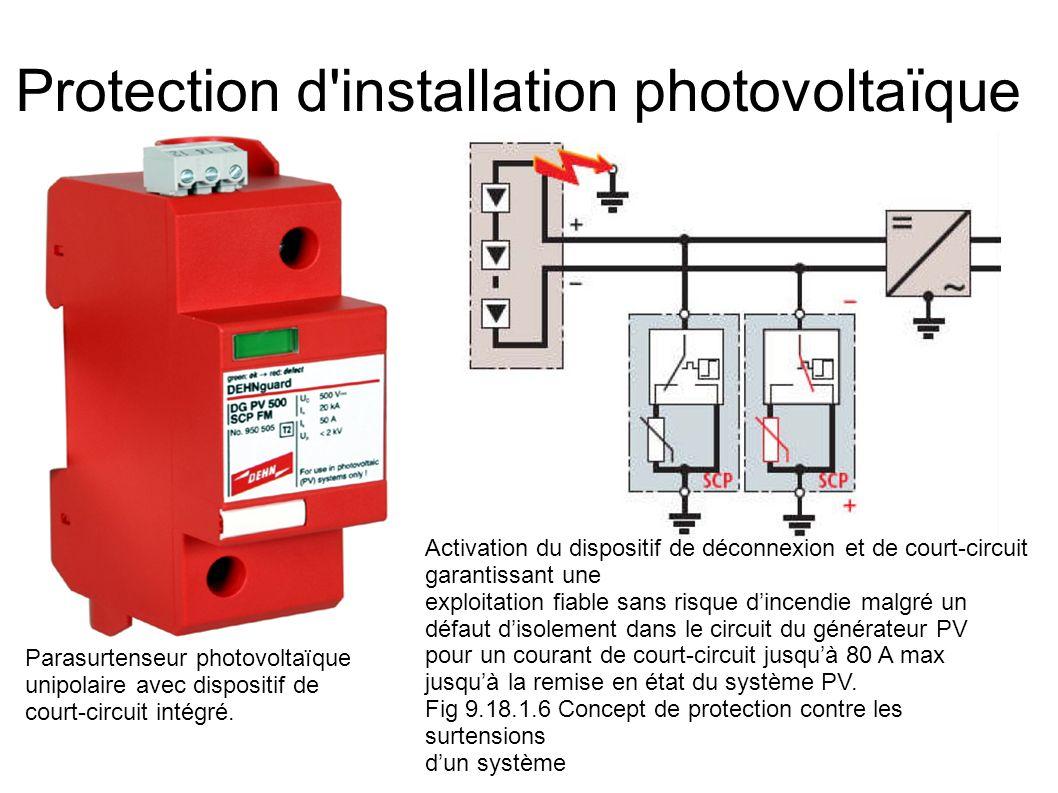 Protection d installation photovoltaïque