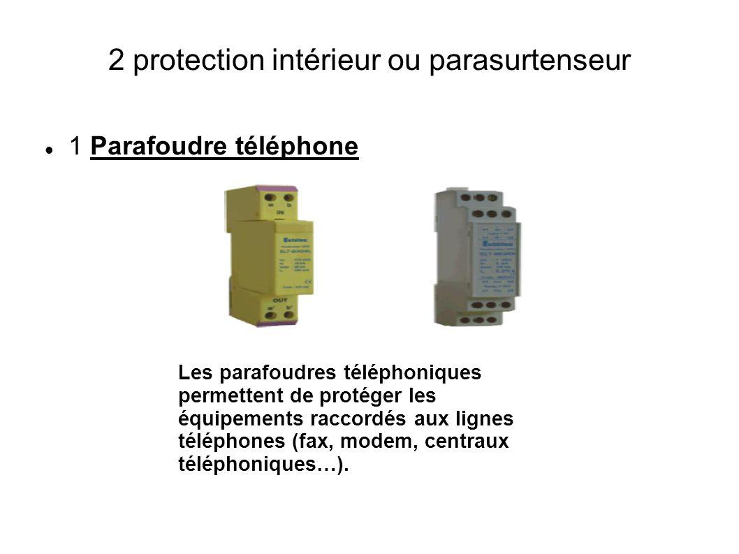 2 protection intérieur ou parasurtenseur