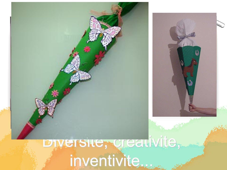 Diversite, creativite, inventivite...