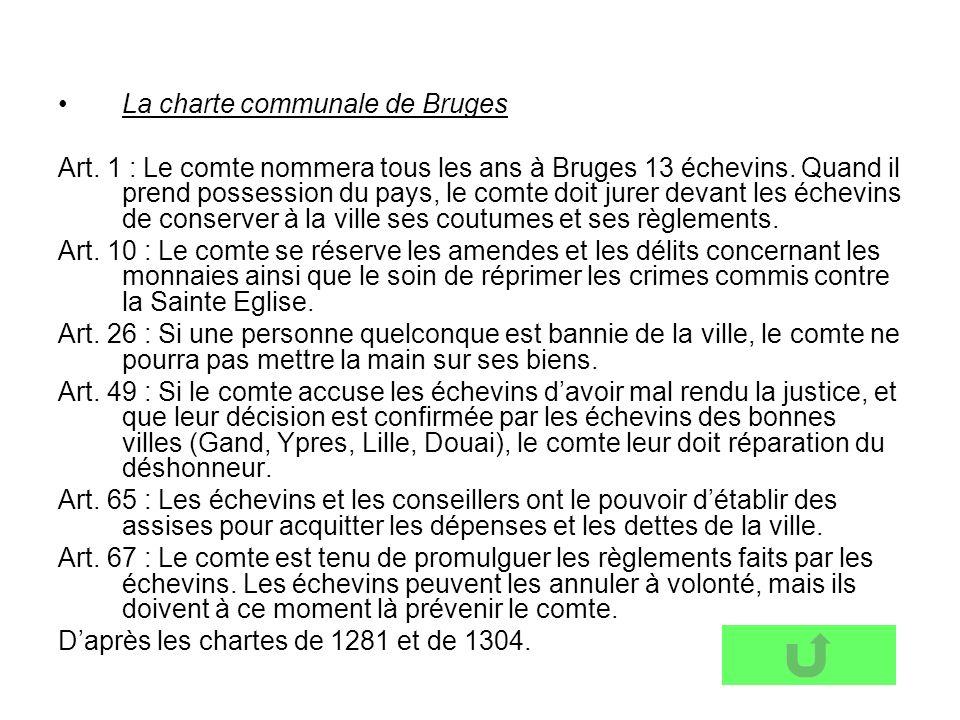 La charte communale de Bruges