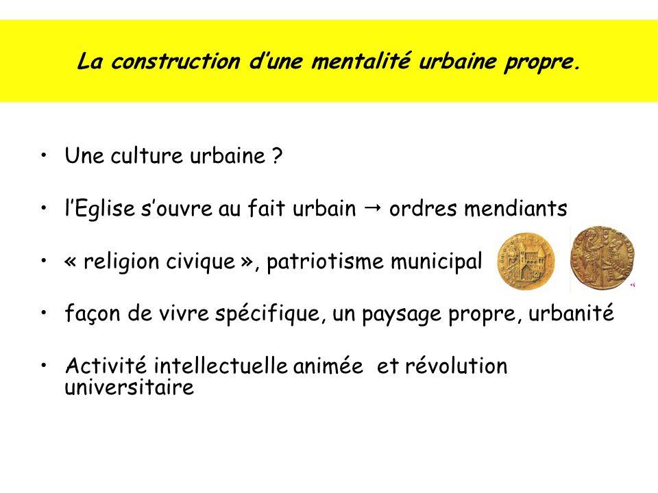 La construction d'une mentalité urbaine propre.