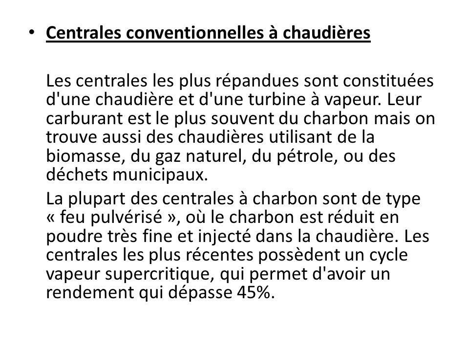 Centrales conventionnelles à chaudières