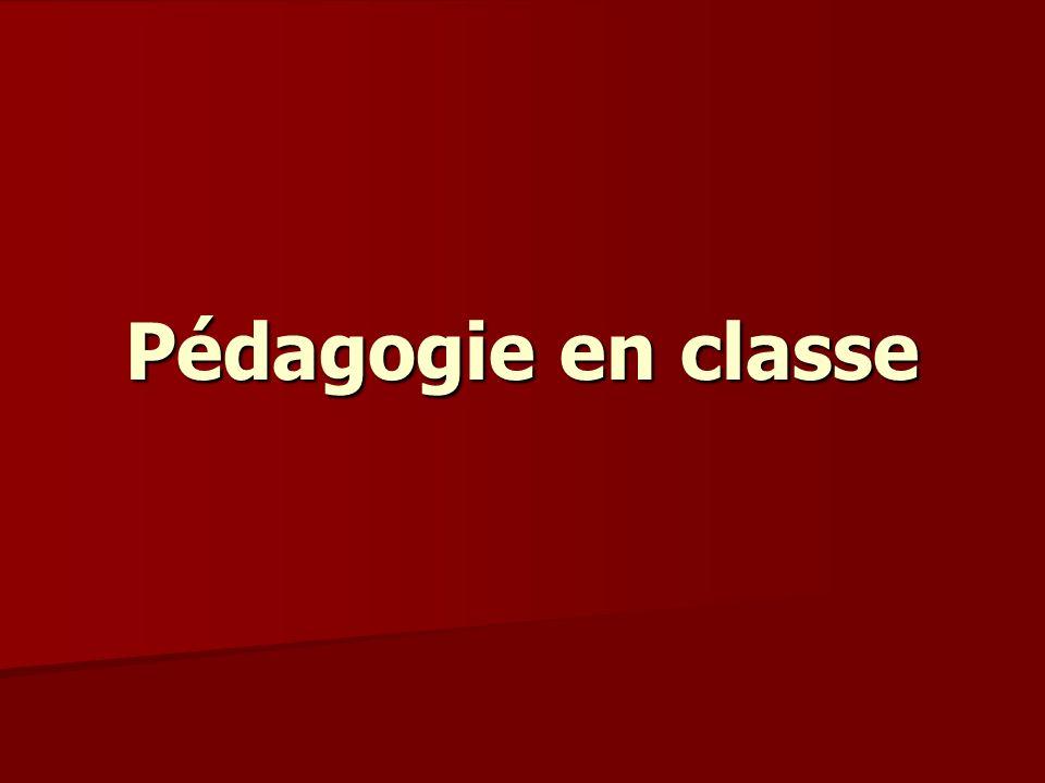 Pédagogie en classe
