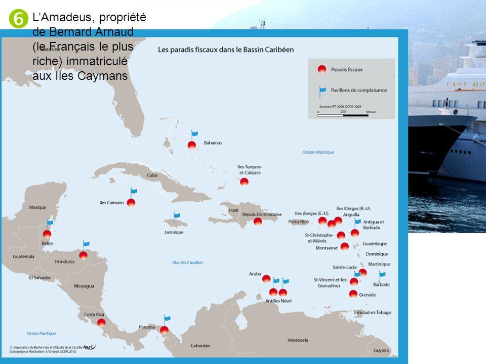  L'Amadeus, propriété de Bernard Arnaud (le Français le plus riche) immatriculé aux Iles Caymans