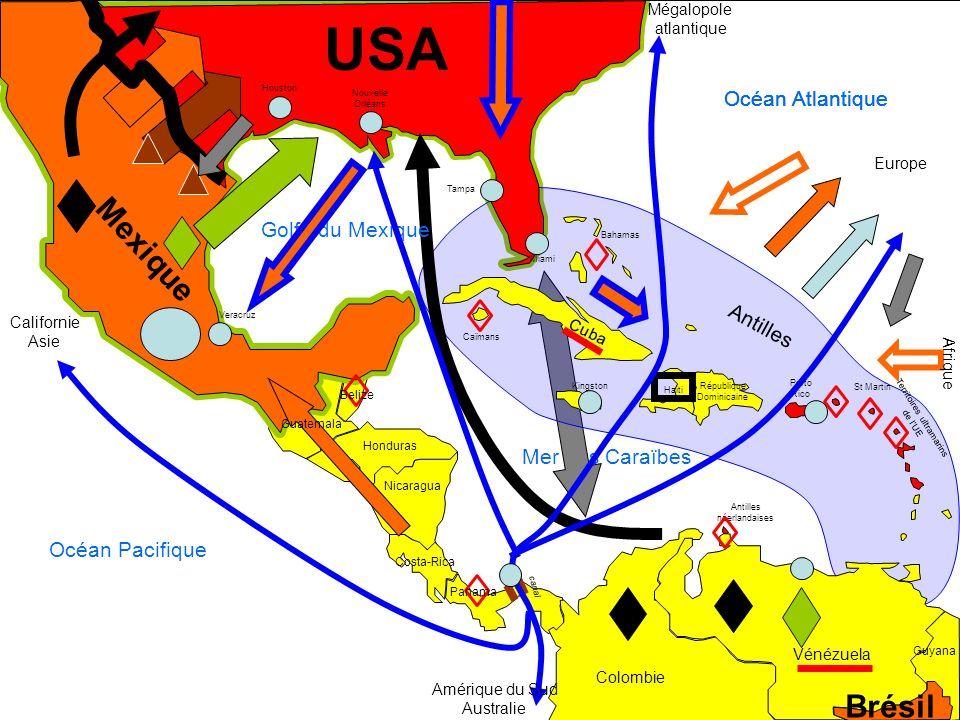 USA Mexique Brésil Océan Atlantique Océan Atlantique Océan Atlantique