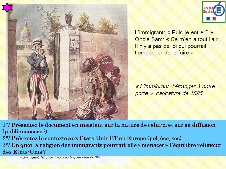 L'immigrant: « Puis-je entrer »