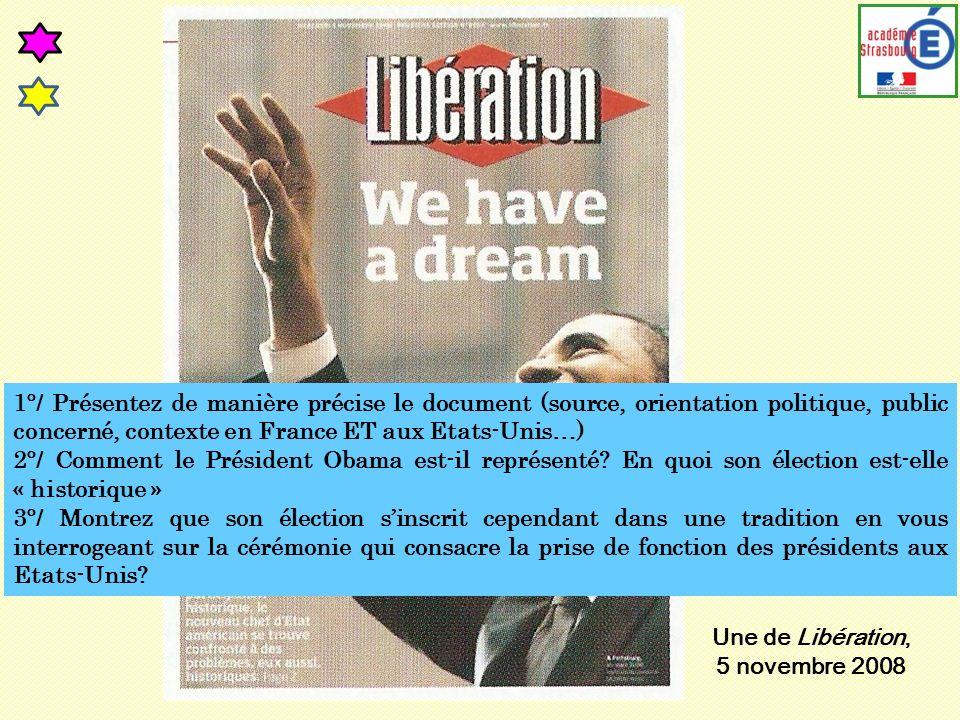 1°/ Présentez de manière précise le document (source, orientation politique, public concerné, contexte en France ET aux Etats-Unis…)