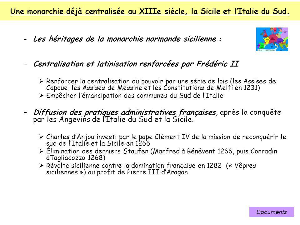 Les héritages de la monarchie normande sicilienne :