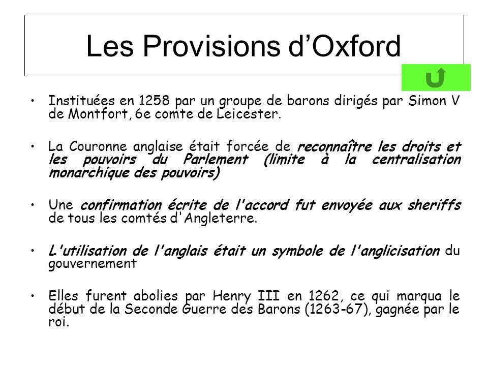 Les Provisions d'Oxford