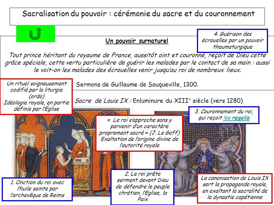 Sacralisation du pouvoir : cérémonie du sacre et du couronnement