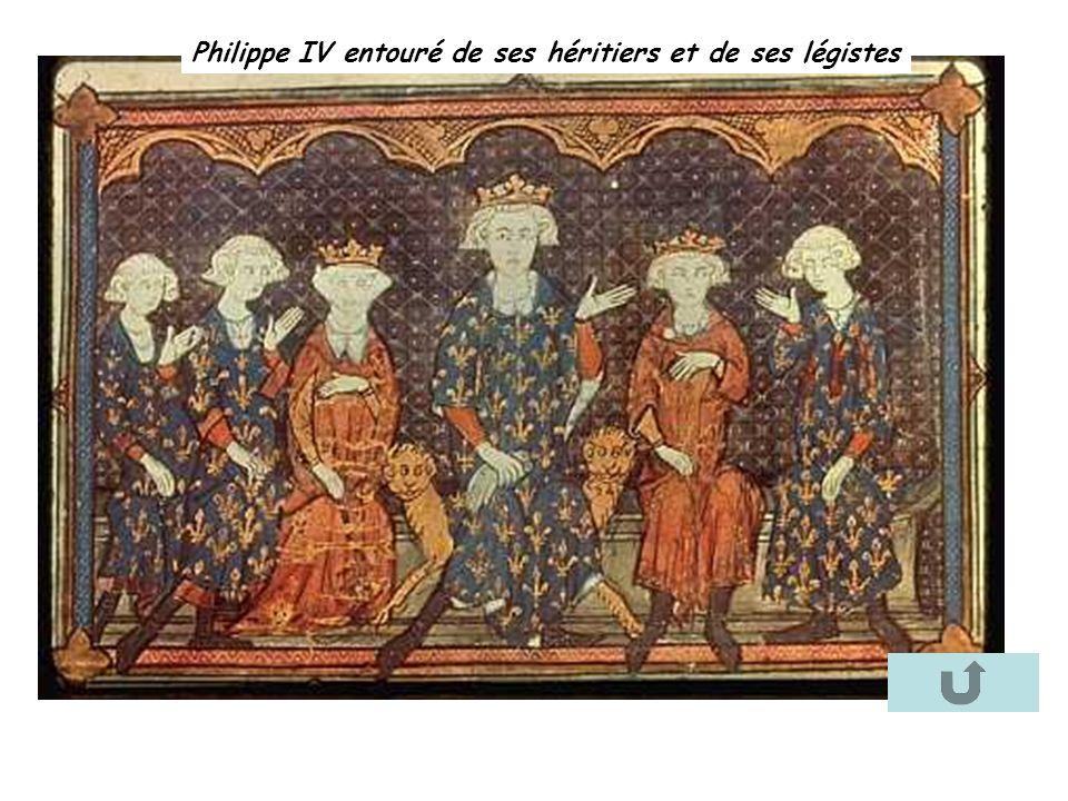 Philippe IV entouré de ses héritiers et de ses légistes