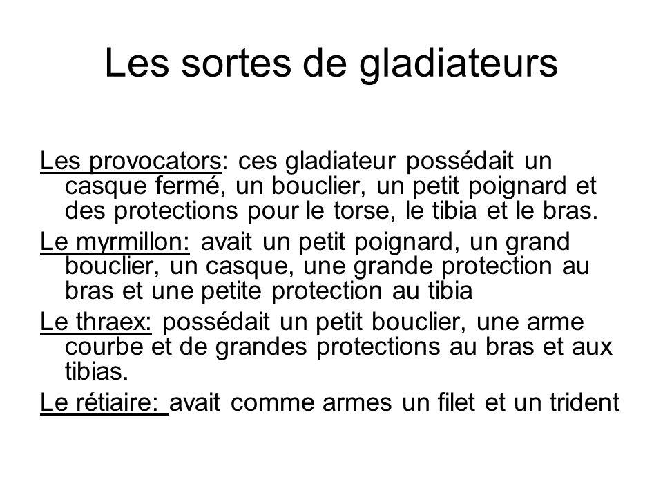 Les sortes de gladiateurs